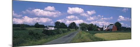 Road Passing Through a Farm, Emmons Road, Tompkins County, Finger Lakes Region, New York State, USA--Mounted Photographic Print