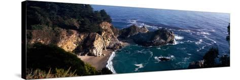 Rock Formations on the Beach, Mcway Falls, Mcway Cove, Julia Pfeiffer Burns State Park--Stretched Canvas Print
