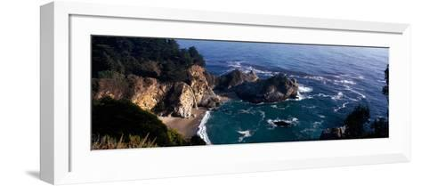 Rock Formations on the Beach, Mcway Falls, Mcway Cove, Julia Pfeiffer Burns State Park--Framed Art Print