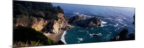 Rock Formations on the Beach, Mcway Falls, Mcway Cove, Julia Pfeiffer Burns State Park--Mounted Photographic Print