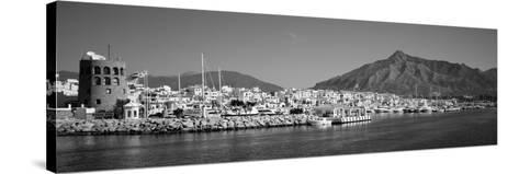 Boats at a Harbor, Puerto Banus, Marbella, Costa Del Sol, Andalusia, Spain--Stretched Canvas Print
