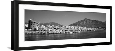 Boats at a Harbor, Puerto Banus, Marbella, Costa Del Sol, Andalusia, Spain--Framed Art Print