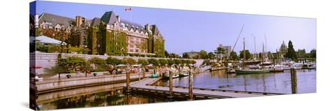 Buildings at the Waterfront, Empress Hotel, Inner Harbor, Victoria, Vancouver Island--Stretched Canvas Print
