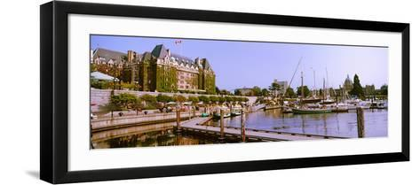 Buildings at the Waterfront, Empress Hotel, Inner Harbor, Victoria, Vancouver Island--Framed Art Print