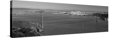High Angle View of a Suspension Bridge, Golden Gate Bridge, San Francisco, California, USA--Stretched Canvas Print