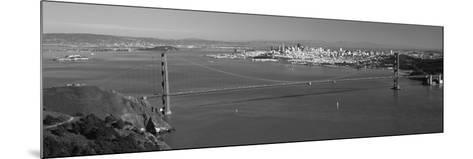 High Angle View of a Suspension Bridge, Golden Gate Bridge, San Francisco, California, USA--Mounted Photographic Print