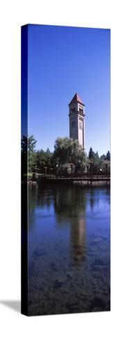 Clock Tower at Riverfront Park, Spokane, Washington State, USA--Stretched Canvas Print