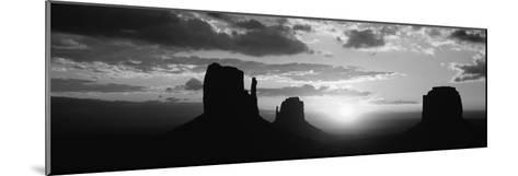 Silhouette of Buttes at Sunset, Monument Valley, Utah, USA--Mounted Photographic Print