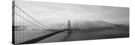 Golden Gate Bridge and Fog San Francisco Ca--Stretched Canvas Print