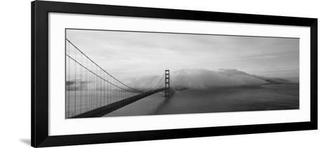 Golden Gate Bridge and Fog San Francisco Ca--Framed Art Print