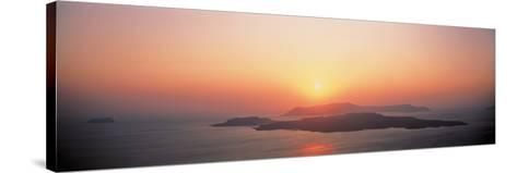 Sunset Santorini Island Greece--Stretched Canvas Print