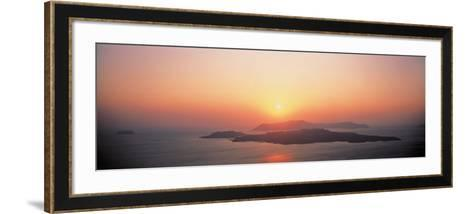 Sunset Santorini Island Greece--Framed Art Print