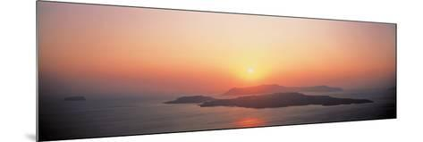 Sunset Santorini Island Greece--Mounted Photographic Print