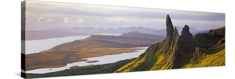 Old Man of Storr Mountains, Isle of Skye, Inner Hebrides, Highland Region, Scotland--Stretched Canvas Print