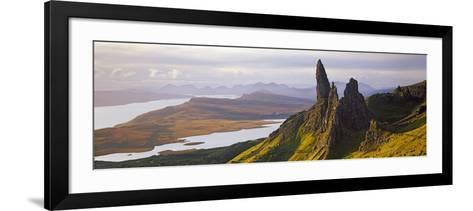Old Man of Storr Mountains, Isle of Skye, Inner Hebrides, Highland Region, Scotland--Framed Art Print
