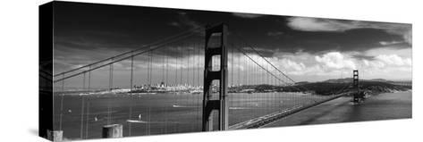 Bridge over a River, Golden Gate Bridge, San Francisco, California, USA--Stretched Canvas Print