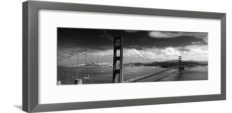 Bridge over a River, Golden Gate Bridge, San Francisco, California, USA--Framed Art Print