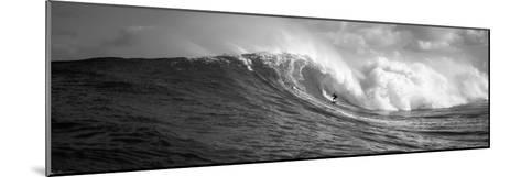 Surfer in the Sea, Maui, Hawaii, USA--Mounted Photographic Print