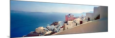 Town at the Waterfront, Santorini, Cyclades Islands, Greece--Mounted Photographic Print