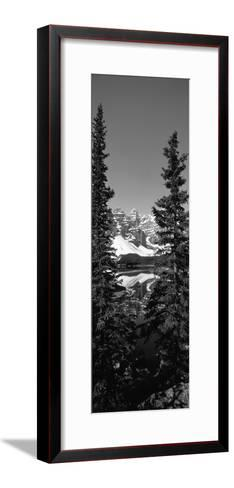 Lake in Front of Mountains, Banff, Alberta, Canada--Framed Art Print