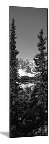 Lake in Front of Mountains, Banff, Alberta, Canada--Mounted Photographic Print