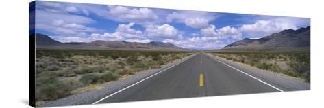 Road Passing Through a Desert, Death Valley, California, USA--Stretched Canvas Print
