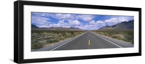Road Passing Through a Desert, Death Valley, California, USA--Framed Art Print