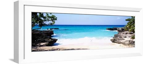 Rock Formations on the Beach, Smith's Cove Beach, Smith's Cove, Georgetown, Grand Cayman--Framed Art Print