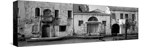Boats in a Canal, Grand Canal, Rio Della Pieta, Venice, Italy--Stretched Canvas Print