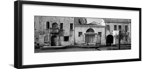 Boats in a Canal, Grand Canal, Rio Della Pieta, Venice, Italy--Framed Art Print