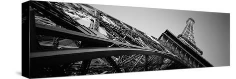 Low Angle View of Las Vegas Replica Eiffel Tower, Paris Las Vegas, Las Vegas, Nevada, USA--Stretched Canvas Print