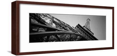 Low Angle View of Las Vegas Replica Eiffel Tower, Paris Las Vegas, Las Vegas, Nevada, USA--Framed Art Print