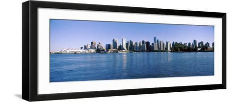 City Skyline, Vancouver, British Columbia, Canada 2013--Framed Art Print