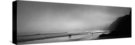 Surfers on the Beach, Point Reyes National Seashore, Marin County, California, USA--Stretched Canvas Print