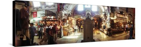 Tourists in a Market, Grand Bazaar, Istanbul, Turkey--Stretched Canvas Print