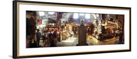 Tourists in a Market, Grand Bazaar, Istanbul, Turkey--Framed Art Print