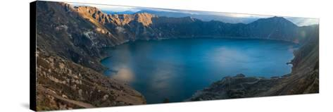 Lake Surrounded by Mountains, Quilotoa, Andes, Cotopaxi Province, Ecuador--Stretched Canvas Print