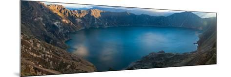 Lake Surrounded by Mountains, Quilotoa, Andes, Cotopaxi Province, Ecuador--Mounted Photographic Print