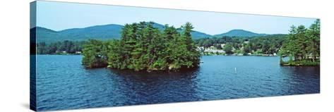 View from the Minne Ha Ha Steamboat, Lake George, New York State, USA--Stretched Canvas Print