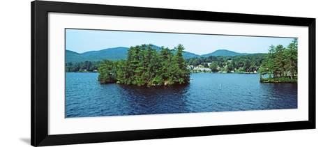 View from the Minne Ha Ha Steamboat, Lake George, New York State, USA--Framed Art Print