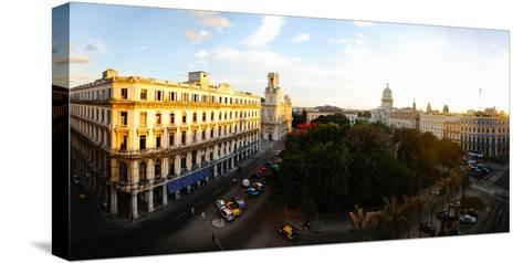 Buildings in a City, Parque Central, Old Havana, Havana, Cuba--Stretched Canvas Print