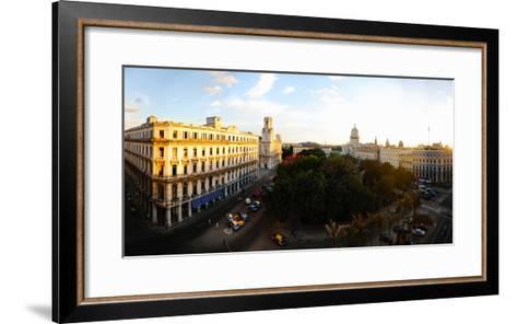 Buildings in a City, Parque Central, Old Havana, Havana, Cuba--Framed Art Print