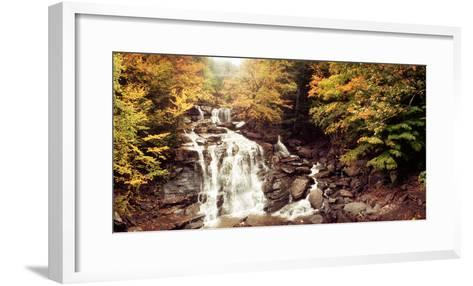 Kaaterskill Falls Stream Through the Forest of the Catskill Mountains, New York State, USA--Framed Art Print