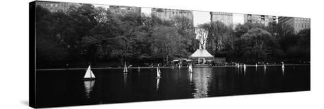 Toy Boats Floating on Water, Central Park, Manhattan, New York City, New York State, USA--Stretched Canvas Print