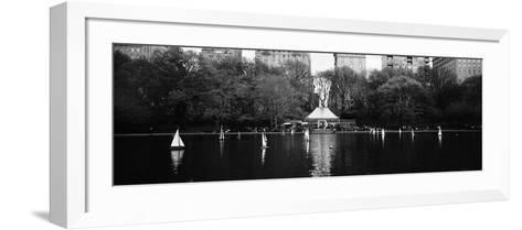Toy Boats Floating on Water, Central Park, Manhattan, New York City, New York State, USA--Framed Art Print
