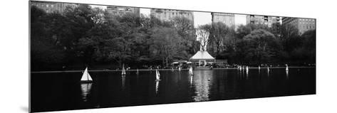 Toy Boats Floating on Water, Central Park, Manhattan, New York City, New York State, USA--Mounted Photographic Print