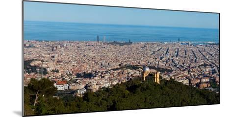 Aerial View of a City, Barcelona, Catalonia, Spain--Mounted Photographic Print