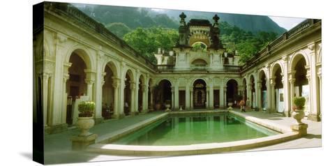 Courtyard of a Mansion, Parque Lage, Jardim Botanico, Corcovado, Rio De Janeiro, Brazil--Stretched Canvas Print
