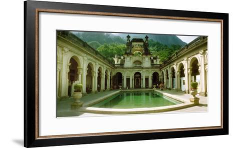 Courtyard of a Mansion, Parque Lage, Jardim Botanico, Corcovado, Rio De Janeiro, Brazil--Framed Art Print
