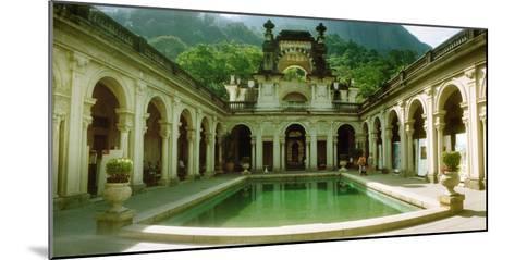 Courtyard of a Mansion, Parque Lage, Jardim Botanico, Corcovado, Rio De Janeiro, Brazil--Mounted Photographic Print